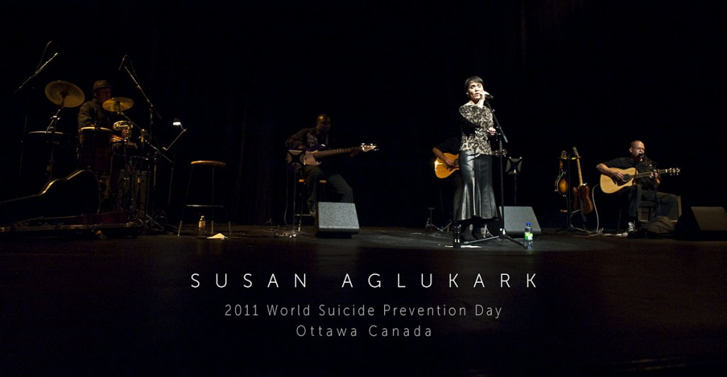 Susan Aglukark performs on World Suicide Prevention Day