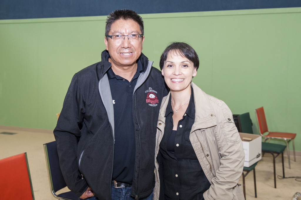 Susan with Deputy Grand Chief Alvin Fiddler